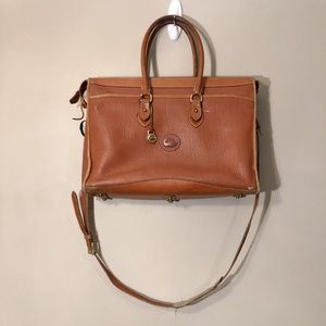 Dooney & Bourke | Vtg Leather Crossbody Briefcase
